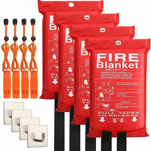 4-Pack Fire Blanket - Fiberglass Fire Blanket Fire 47.2 * 47.2 Inches