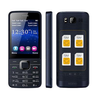 Gprs Phone (Servo V9500 Quad SIM Cards HD Mobile Phone 2.8