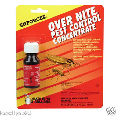 ENFORCER OVERNITE Pest Control CONCENTRATE roaches, silverfish, earwigs, ants Pest Control Earwigs