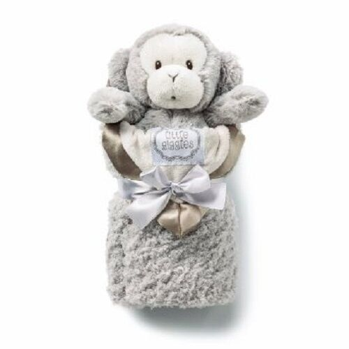 Kathy Ireland TAUPE MONKEY and Blanket Set for Baby  BRAND NEW