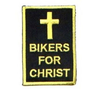 BIKERS FOR CHRIST VEST/JACKET PATCH -CHRISTIAN-CROSS