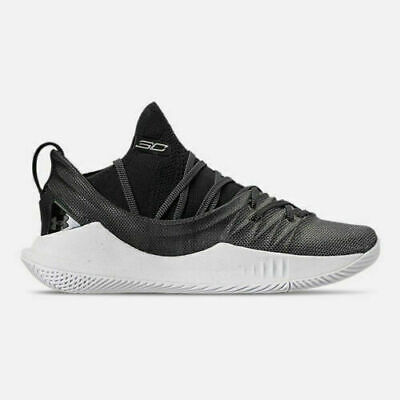 Under Amour CURRY 5 Men's Basketball Shoes Size 10.5 Black/White 3020657-101 NEW