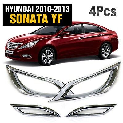 Chrome Fog Light Lamp Reflex Lens Cover Molding for HYUNDAI 2011-2014 Sonata YF
