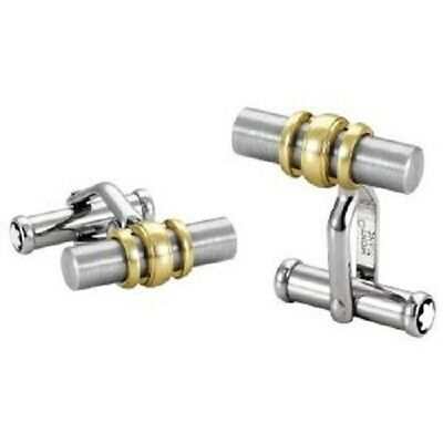 MONTBLANC FINE JEWELRY 18K GOLD & STEEL COLLECTION CUFFLINKS 3 RINGS NEW 102690](mont blanc pen deals)