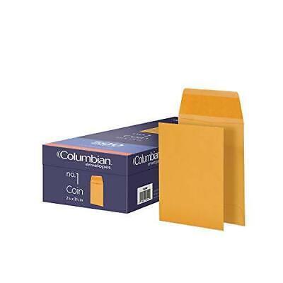Columbian Coin Envelopes 2.25 X 3.5 Inch Manila 500 Per Box Co540