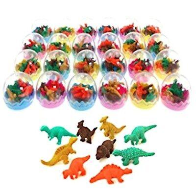 24 Uova di Dinosauro Giocattolo Gomma Cancellare Regalino Pensiero x Festa Bimbi