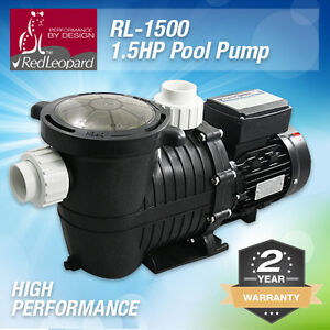 RedLeopard RL1500 1.5hp Pool Pump - High Performance - 2Y Warranty