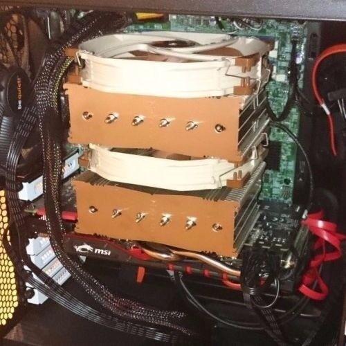 Noctua NH-D15 dual tower, dual 140 mm fan CPU cooler