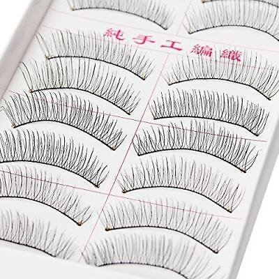 Sexy Sparkles Handmade Natural Fashion Long False Eyelashes (10 Pairs) (10mm) Charms & Charm Bracelets