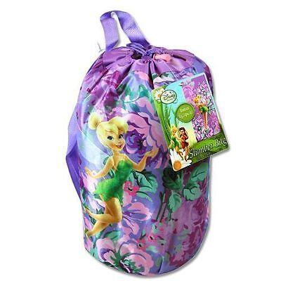 Camping Slumber Sleeping Bag + Backpack Disney Tinkerbell Fairy Girl Age 3+ NEW