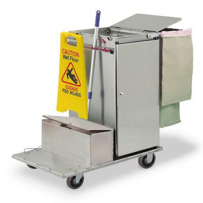 Royce Rolls C36-lst1e Stainless Steel Std-size Microfiber Housekeeping Cart