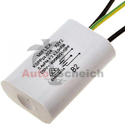 Miflex X2 Y2 Kondensator Entstörkondensator KSPPpz-024 0,4uF 2x 2,5nF 250V AC (Kondensator Ac)