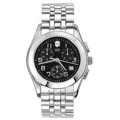 Swiss Army Alliance Quartz Chronograph Black Dial Mens Watch 24666 Victorinox