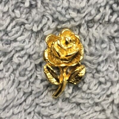 (3D Gold Rose Flower Blossom Hat Tie Gift Lapel Scatter Pin Brooch Jewelry K6)