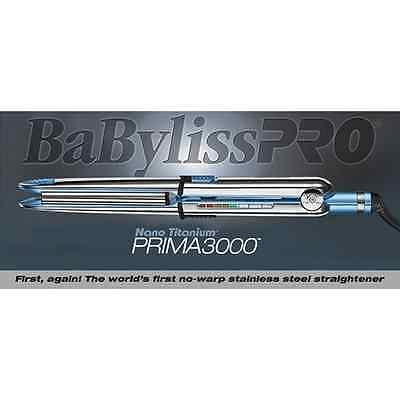 "Babyliss Pro Nano Titanium Prima 3000 Flat Iron 1.25""; BONUS! Thermal Glove NEW"