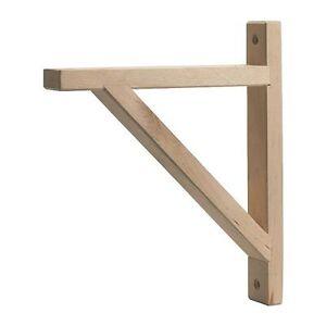 ikea valter en bois de bouleau support mural etag re tag re support 18cm diy ebay. Black Bedroom Furniture Sets. Home Design Ideas