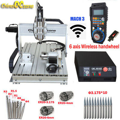 Mini Cnc 6040 4axis 2200w Router Mach3 Usb Engraving Diy Cuttingmilling Machine