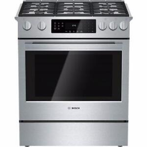 "30"" Self Clean Gas Range, Stainless steel, Bosch"