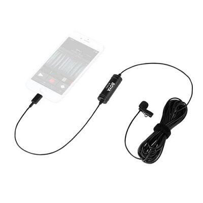 BOYA BY-DM1 Lavalier Microphone Clip on Mic w IOS Interface Plug f/ iPhone X 8 7