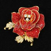 Red Swarovski Brooch