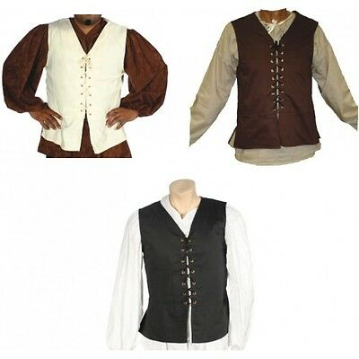 ADULT MEN MALE RENAISSANCE PEASANT PIRATE MEDIEVAL BUCCANEER PRINCE COSTUME VEST - Pirate Costumes For Men