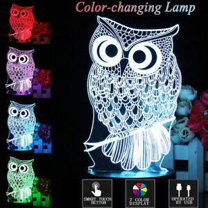Assorted 3D color changing night lamps 100% NEW