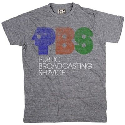 Palmer Cash PBS LOGO T-Shirt Heather Grey NWT 100% AUTHENTIC Logo Heathered T-shirt