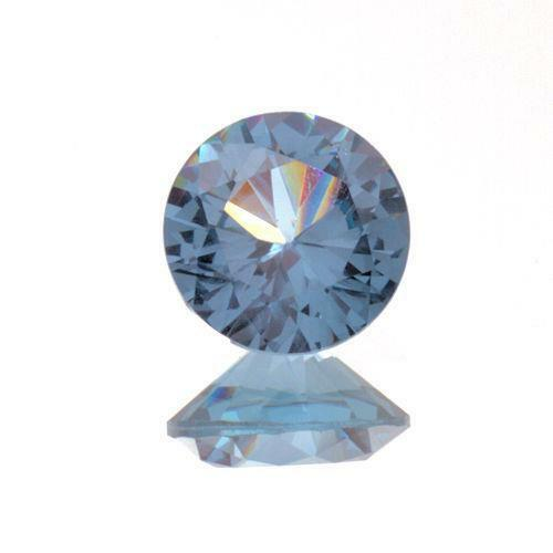 (2.5mm - 10mm) Round Lab Created Medium Blue #106 Spinel