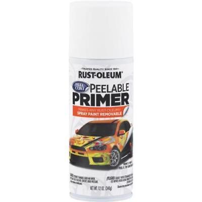 White Rust Spray Primer (Rust-Oleum 12 Oz White Flat Peel Coat Peelable Spray Primer)