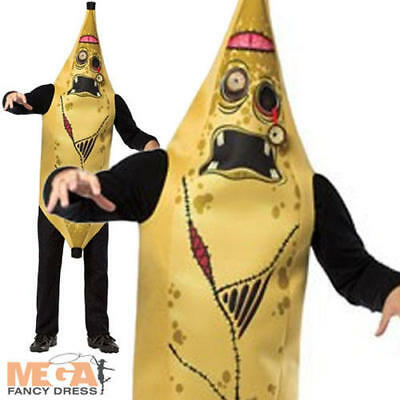 Zombie Banana (Zombie Banana Adults Halloween Fancy Dress Mens Ladies Fun Food Costume)