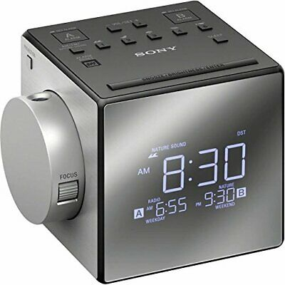 Sony ICF-C1PJ AM/FM Dual Alarm Clock Radio Nature Sound Time Projection ICFC1PJ
