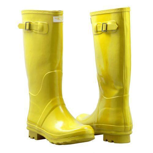 womens yellow rain boots ebay