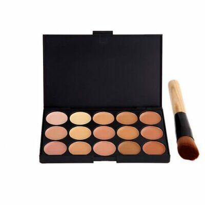 Neue 15 Farben Concealer Palette Kit mit Pinsel Make-up Kontur Gesichtscreme