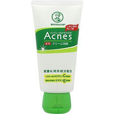 Rohto Mentholatum Acnes Medicated Creamy Face Wash 130g Acne Care Japan