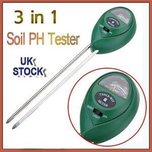 3in1 Accurate Garden Plant Flowers Soil Moisture Tester Light PH Meter Probe New