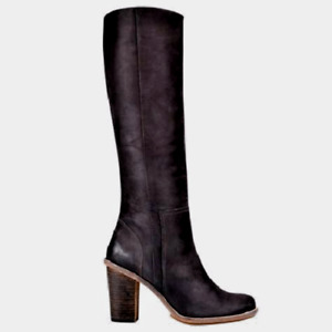 Timberland Black Leather Marge Knee High Boots Brand New w/ Box