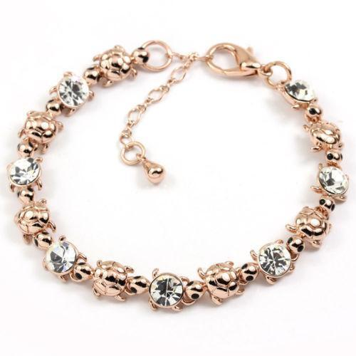 rose gold swarovski bracelet ebay. Black Bedroom Furniture Sets. Home Design Ideas