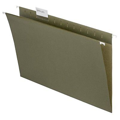 Legal Size Hanging File Folders 15 Cut Adjustable Tabs 5 Tab Green 50 Pack