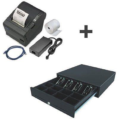 Bundle: Epson TMT-88-IV USB + neue Kassenlade / Bondrucker + Geldlade TM-T88  ()