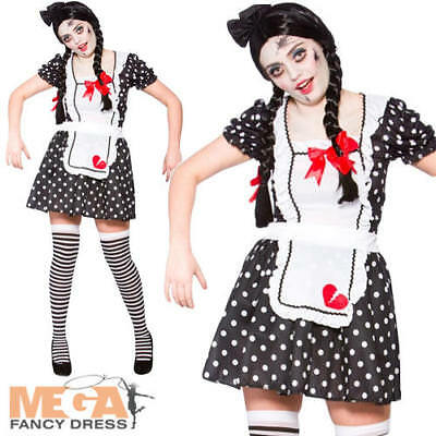Broken Doll Ladies Halloween Fancy Dress Womens Ragdoll Adults Zombie Costume - Broken Doll Dress