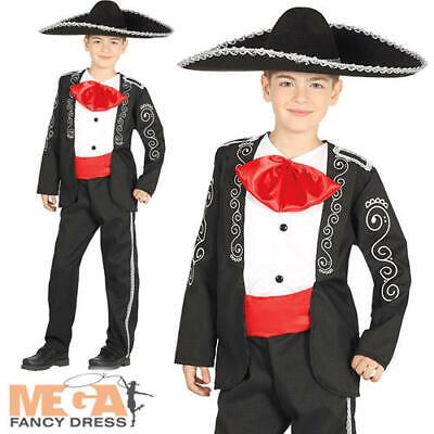 Mariachi Man Boys Fancy Dress National Mexian Band Singer Kids Costume Outfit - Mariachi Outfits