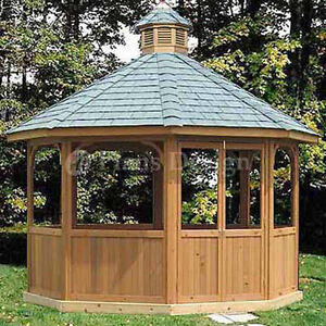 How-To-Build-12-Octagon-Screened-Gazebo-Plans-Material-List-Include-10112