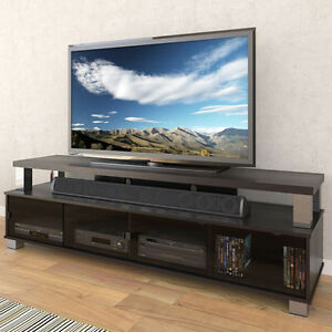 """BLACK TV STAND - NEW CONDITION - 48""""-80"""" TVs"""