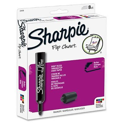 Sharpie Flip Chart Marker - Bullet Marker Point Style - Assorted Ink - Assorted