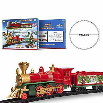Train Set Toys with Light and Sound for Under Christmas Tree Battery Operated C
