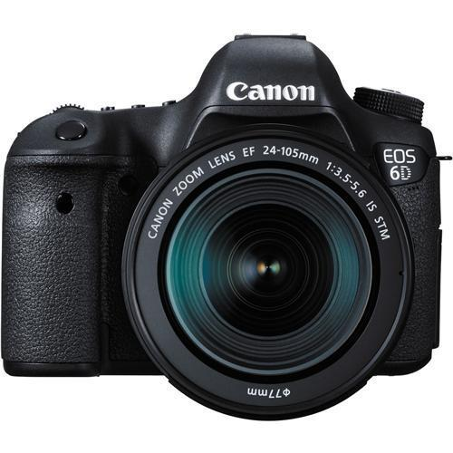 Canon EOS 6D DSLR Camera with EF 24-105mm IS STM Lens Black 8035B106