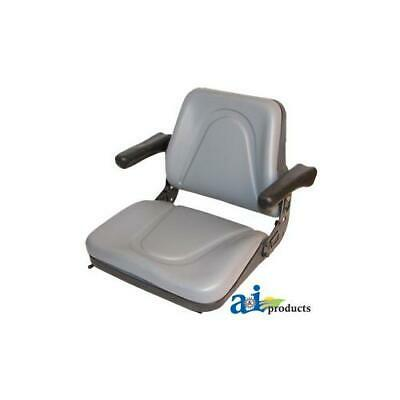 T500gy Universal Seat W Slide Flip-up Armrests For Tractors Equipment Mower