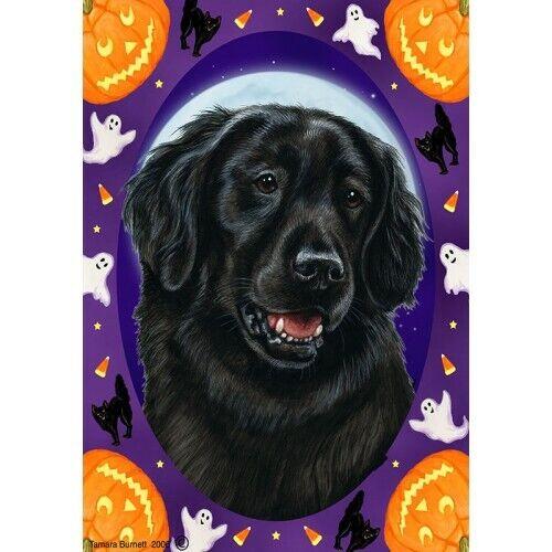 Halloween Garden Flag - Flat-Coated Retriever 120761