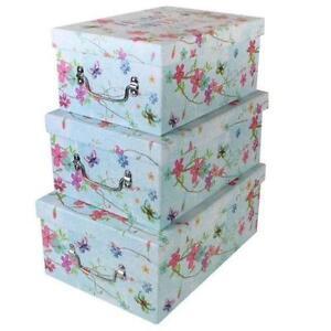 decorative boxes storage organisers ebay. Black Bedroom Furniture Sets. Home Design Ideas