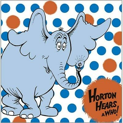 ~HORTON HEARS A WHO Dr SEUSS ~ 16- PAPER LUNCH NAPKINS  HALLMARK PARTY SUPPLIES  - Dr Who Party Supplies